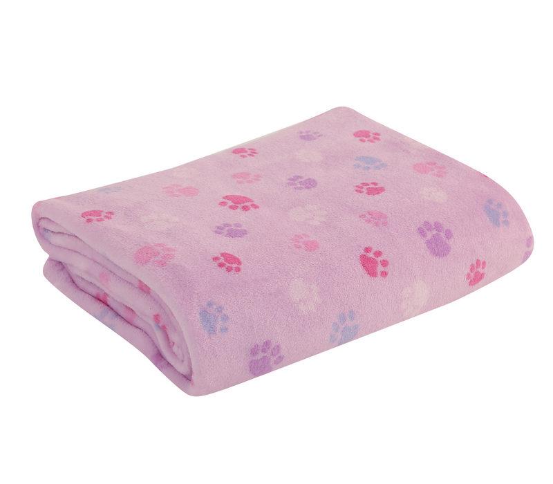 Κουβέρτα Fleece 110×140 Nef Nef Fleece Foot Print Ροζ
