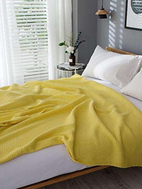Κουβέρτα Πικέ Υπέρδιπλη 220X240 Sunshine Eliot Yellow (220×240)