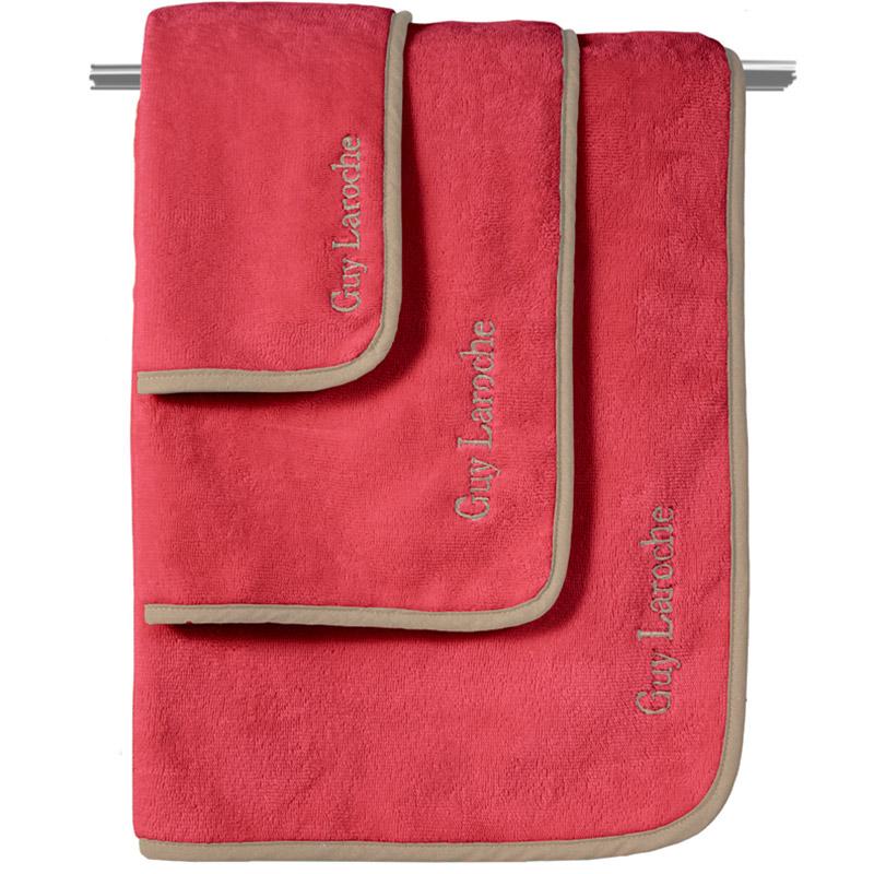 Πετσέτες Μπάνιου (Σετ 3 Τμχ) Guy Laroche New Comfy Red