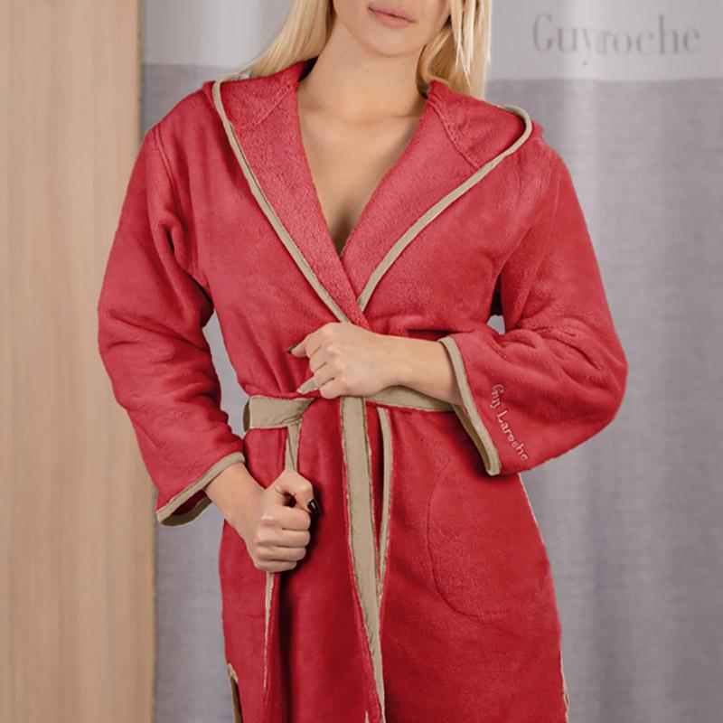 Μπουρνούζι Με Κουκούλα Medium Guy Laroche New Comfy Red