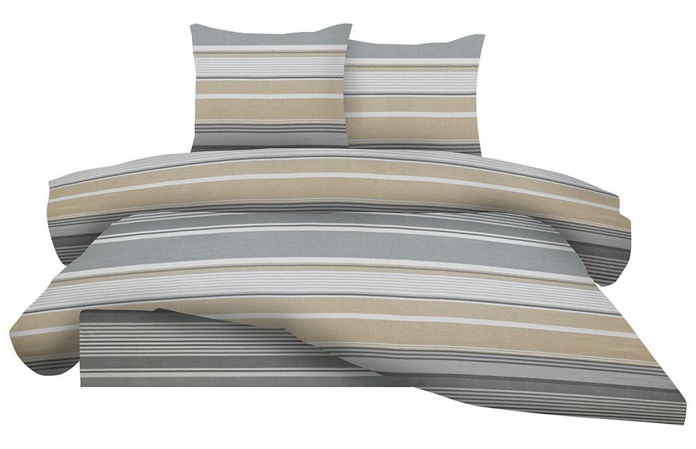 Σεντόνια Διπλά Φανελένια (Σετ) 100% Βαμβάκι 1212 Grey λευκά είδη υπνοδωμάτιο σεντόνια ημίδιπλα διπλά σεντόνια