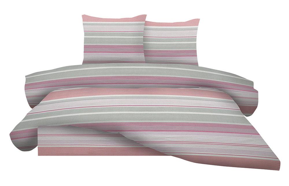Σεντόνια Διπλά Φανελένια (Σετ) 100% Βαμβάκι 1212 Pink λευκά είδη υπνοδωμάτιο σεντόνια ημίδιπλα διπλά σεντόνια