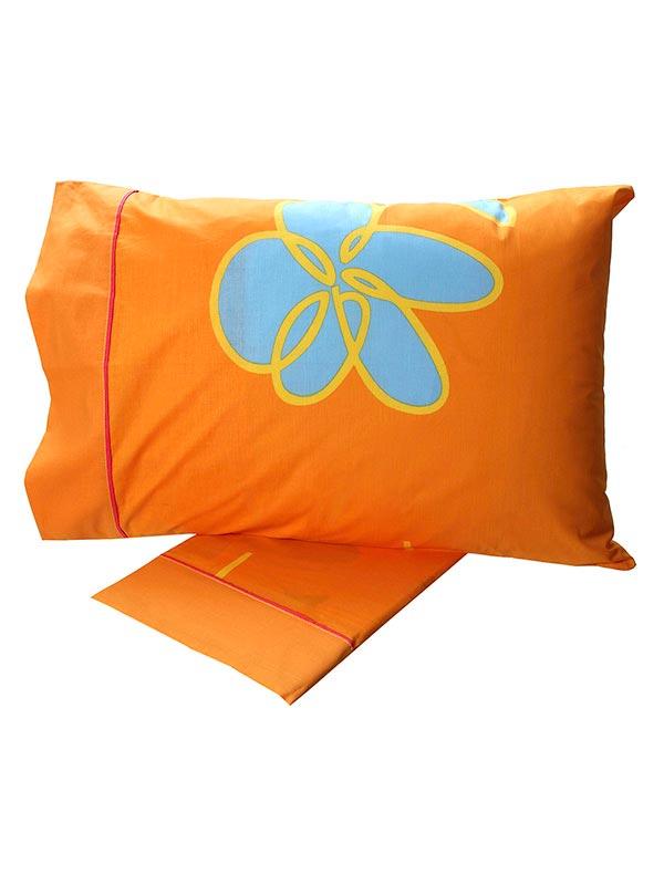 Σεντόνια Υπέρδιπλα (Σετ) 220X260 Sunshine Cotton Feelings 129 Orange Χωρίς Λάστιχο (220×260)