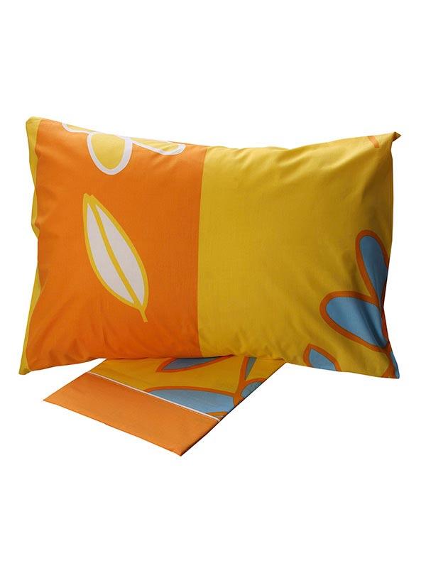 Σεντόνια Υπέρδιπλα (Σετ) 220X260 Sunshine Cotton Feelings 129 Yellow Χωρίς Λάστιχο (220×260)