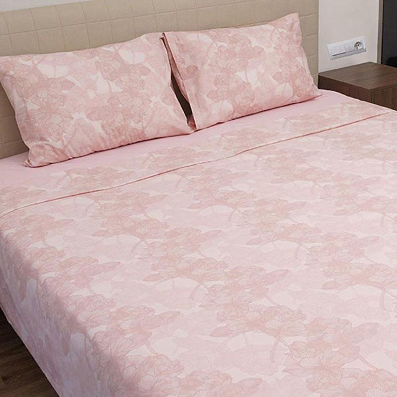 Σεντόνια Υπέρδιπλα (Σετ) 100% Βαμβάκι 2032 Pink