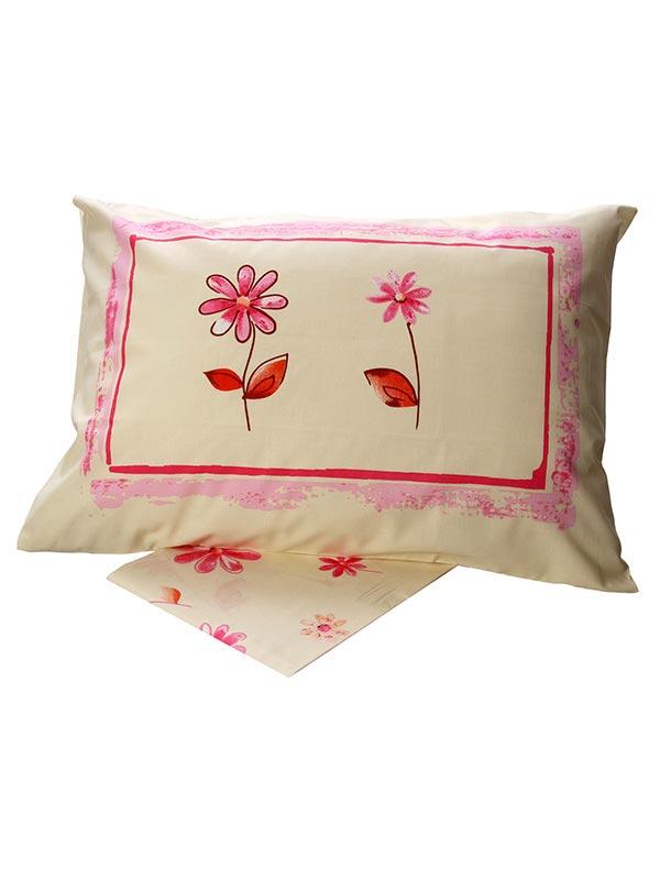 Σεντόνια Υπέρδιπλα (Σετ) 220X260 Sunshine Cotton Feelings 4031 Pink Χωρίς Λάστιχο (220×260)
