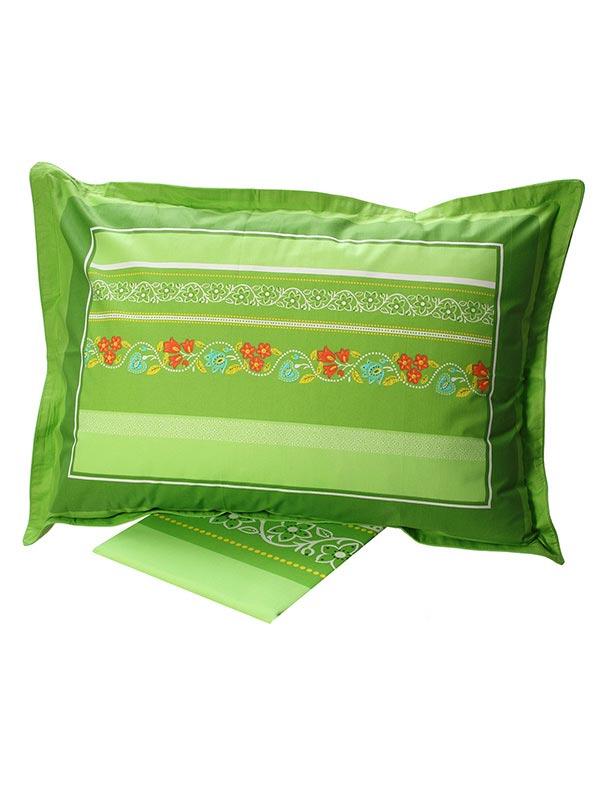 Σεντόνια Υπέρδιπλα (Σετ) 220X260 Sunshine Cotton Feelings 4674 Green Χωρίς Λάστιχο (220×260)