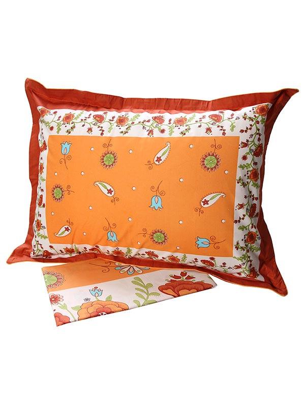Σεντόνια Υπέρδιπλα (Σετ) 220X260 Sunshine Cotton Feelings 4675 Orange Χωρίς Λάστιχο (220×260)