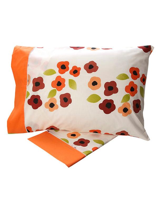 Σεντόνια Υπέρδιπλα (Σετ) 220X260 Sunshine Cotton Feelings 529 Orange Χωρίς Λάστιχο (220×260)