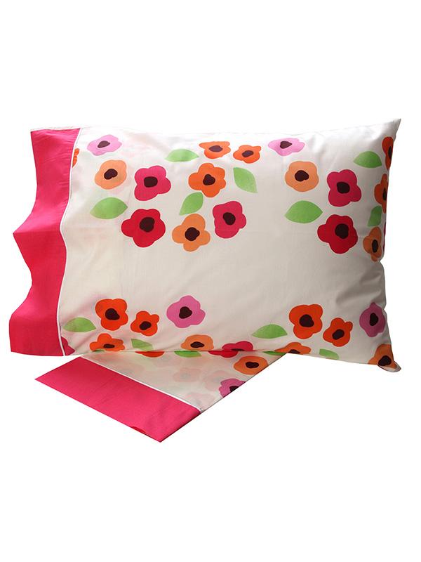 Σεντόνια Υπέρδιπλα (Σετ) 220X260 Sunshine Cotton Feelings 529 Pink Χωρίς Λάστιχο (220×260)