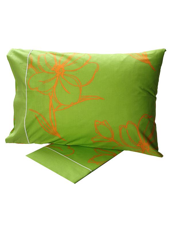 Σεντόνια Υπέρδιπλα (Σετ) 220X260 Sunshine Cotton Feelings 537 Green Χωρίς Λάστιχο (220×260)