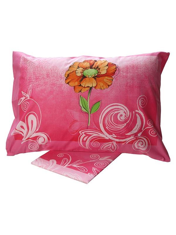 Σεντόνια Μονά (Σετ) 160X260 Sunshine Cotton Feelings 947 Pink Χωρίς Λάστιχο (160×260)