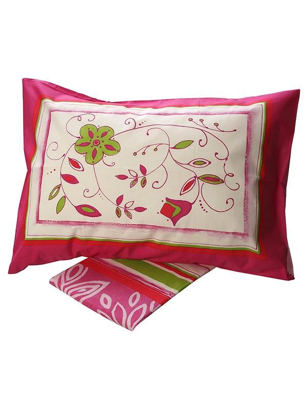 Σεντόνια Μονά (Σετ) 160X260 Sunshine Cotton Feelings 9776 Pink Χωρίς Λάστιχο (160×260)