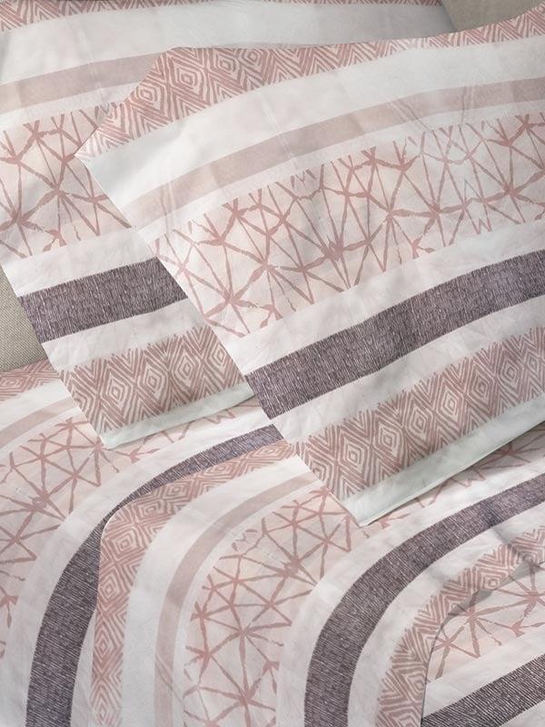 Σεντόνια Μονά (Σετ) 160X250 Sunshine Menta 060 Pink Χωρίς Λάστιχο (160×250)