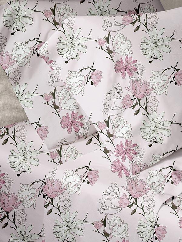 Σεντόνια Μονά (Σετ) 160X250 Sunshine Menta 070 Pink Χωρίς Λάστιχο (160×250)