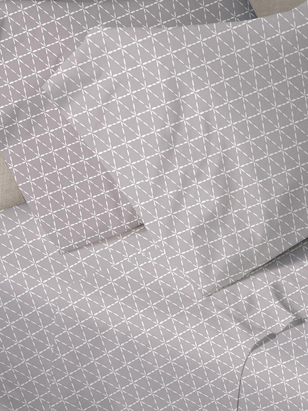 Σεντόνια Μονά (Σετ) 160X250 Sunshine Menta 940 Grey Χωρίς Λάστιχο (160×250)