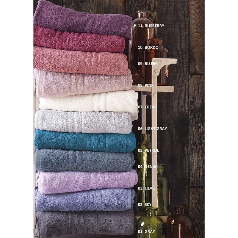 Πετσέτες Μπάνιου (Σετ 3 Τμχ) Rythmos Aria 11 Rusberry