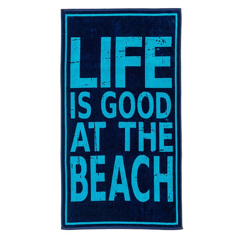 Πετσέτα Θαλάσσης 86X160 Melinen Life Is Good Life Is Good
