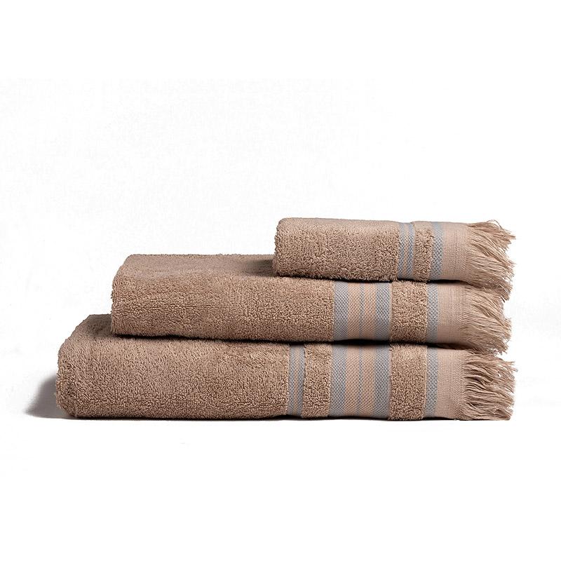 Πετσέτες Μπάνιου (Σετ 3 Τμχ) Melinen Yoga Beige