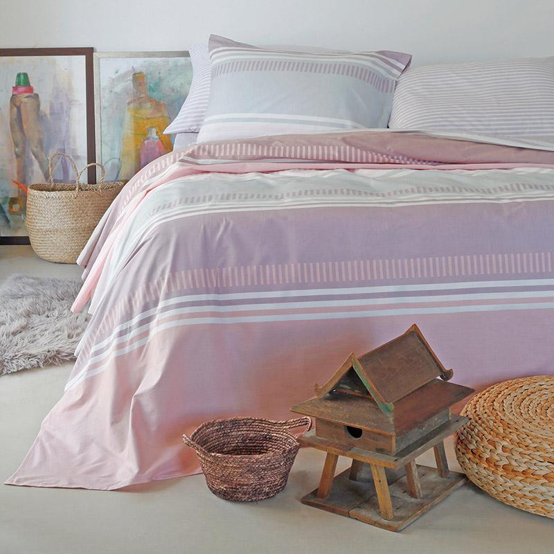 Σεντόνια Υπέρδιπλα (Σετ) 160X200+32 Melinen Blogger Pink Με Λάστιχο