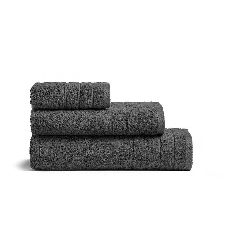 Πετσέτα Χεριών 30X50 Melinen Fresca Dark Grey (30×50)