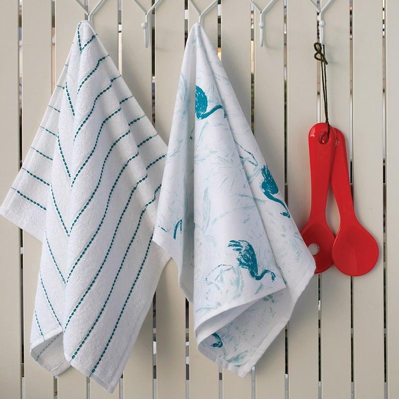 Σετ Πετσέτες Κουζίνας (2 Τμχ) 40X60 Melinen Flamingo Εμπριμε