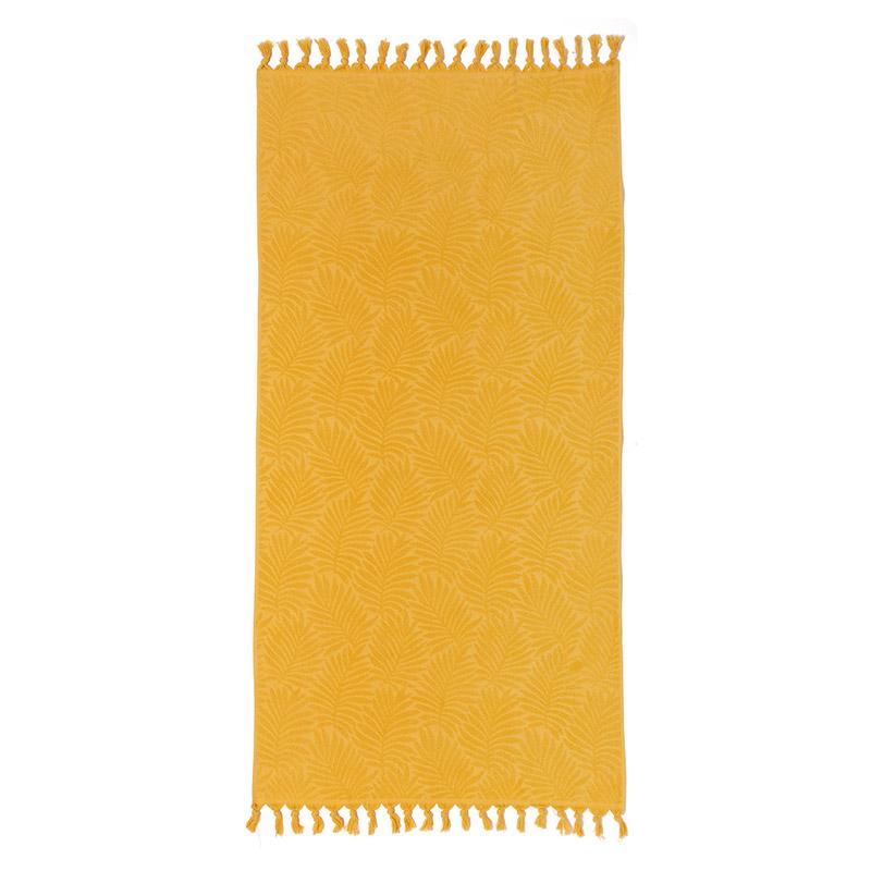 Πετσέτα Θαλάσσης 90X180 Melinen Cuba Mustard