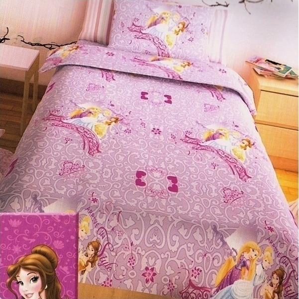 Σεντόνια Μονά (Σετ) Disney Princess Lilac