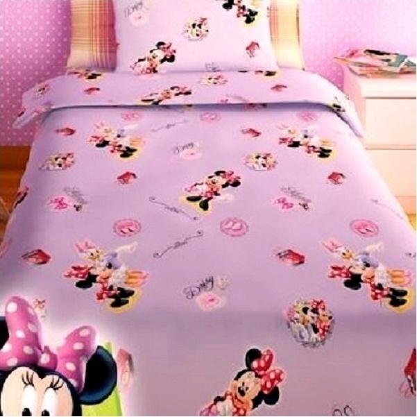 Σεντόνια Μονά (Σετ) Disney Minnie Lilac