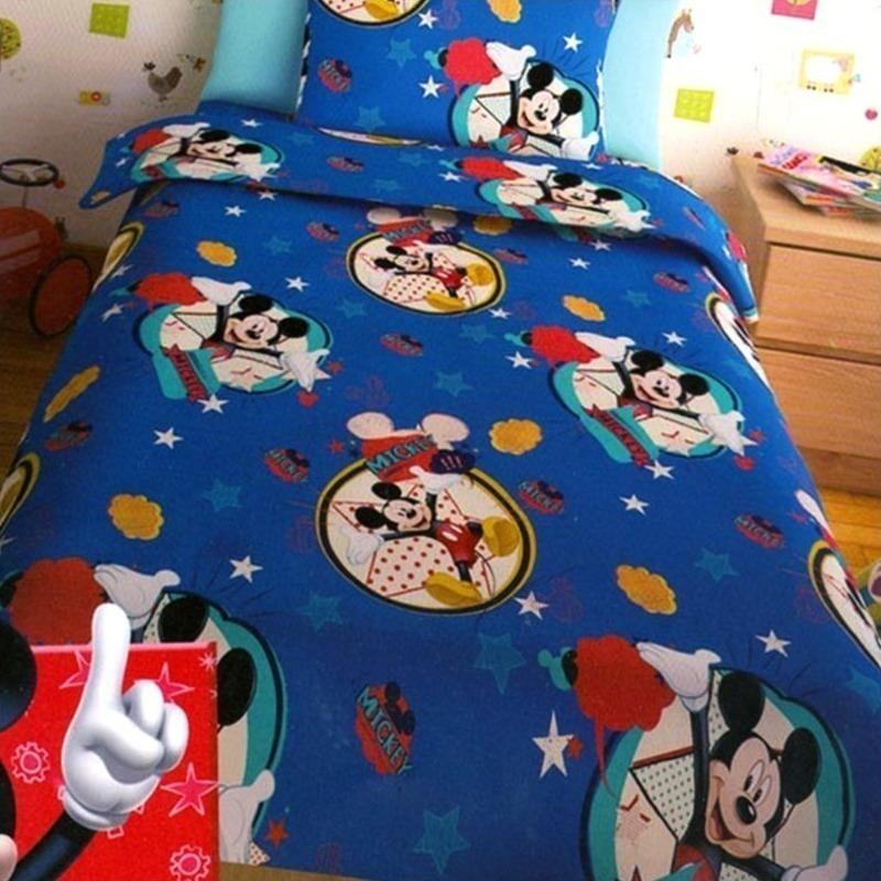 Σεντόνια Μονά (Σετ) Disney Mickey Blue