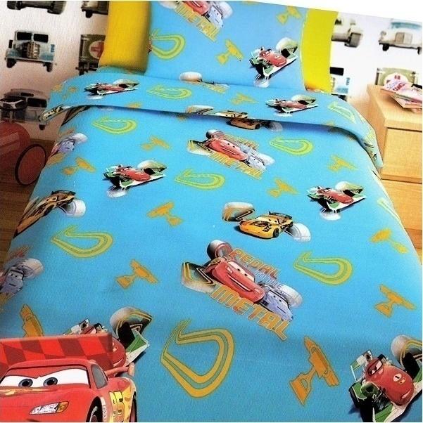 Σεντόνια Μονά (Σετ) Disney Cars Turquoise