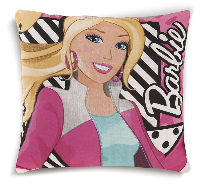 Διακοσμητικό Μαξιλάρι Δύο Όψεων 40X40 Dimcol Disney Barbie 09 Ροζ