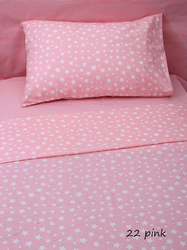 Φανελένια Σεντόνια (Σετ) Κούνιας – Sunshine Stars 22 Pink