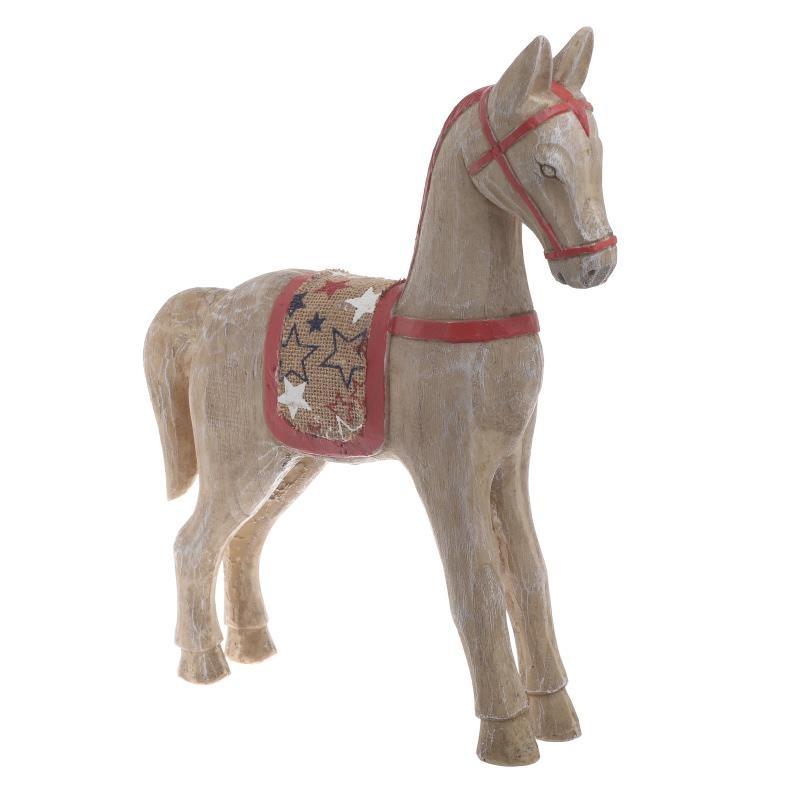 Ξύλινο Άλογο Inart 2-70-718-0001