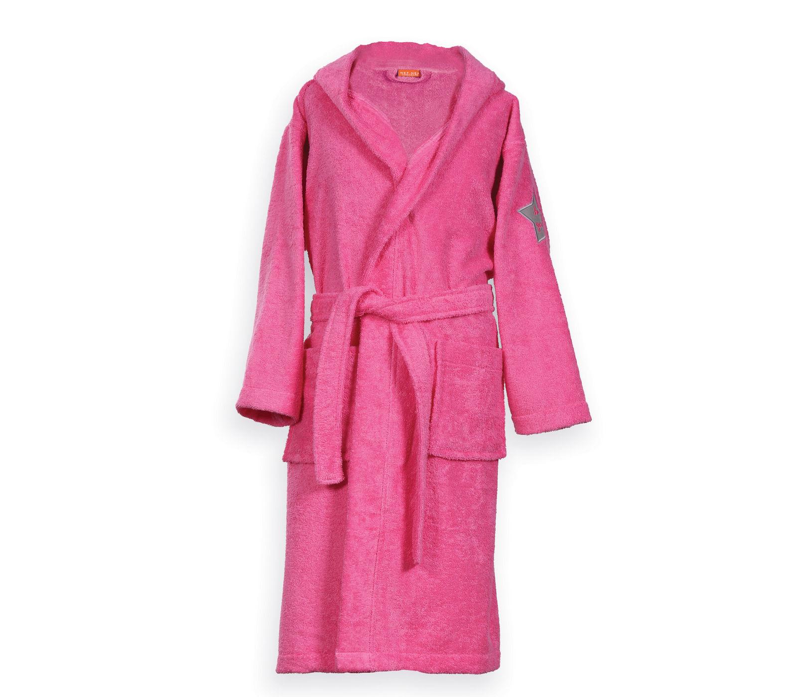 Μπουρνούζι Παιδικό με Κουκούλα NEF NEF JUNIOR KIDS-18 789-Hot Pink 04