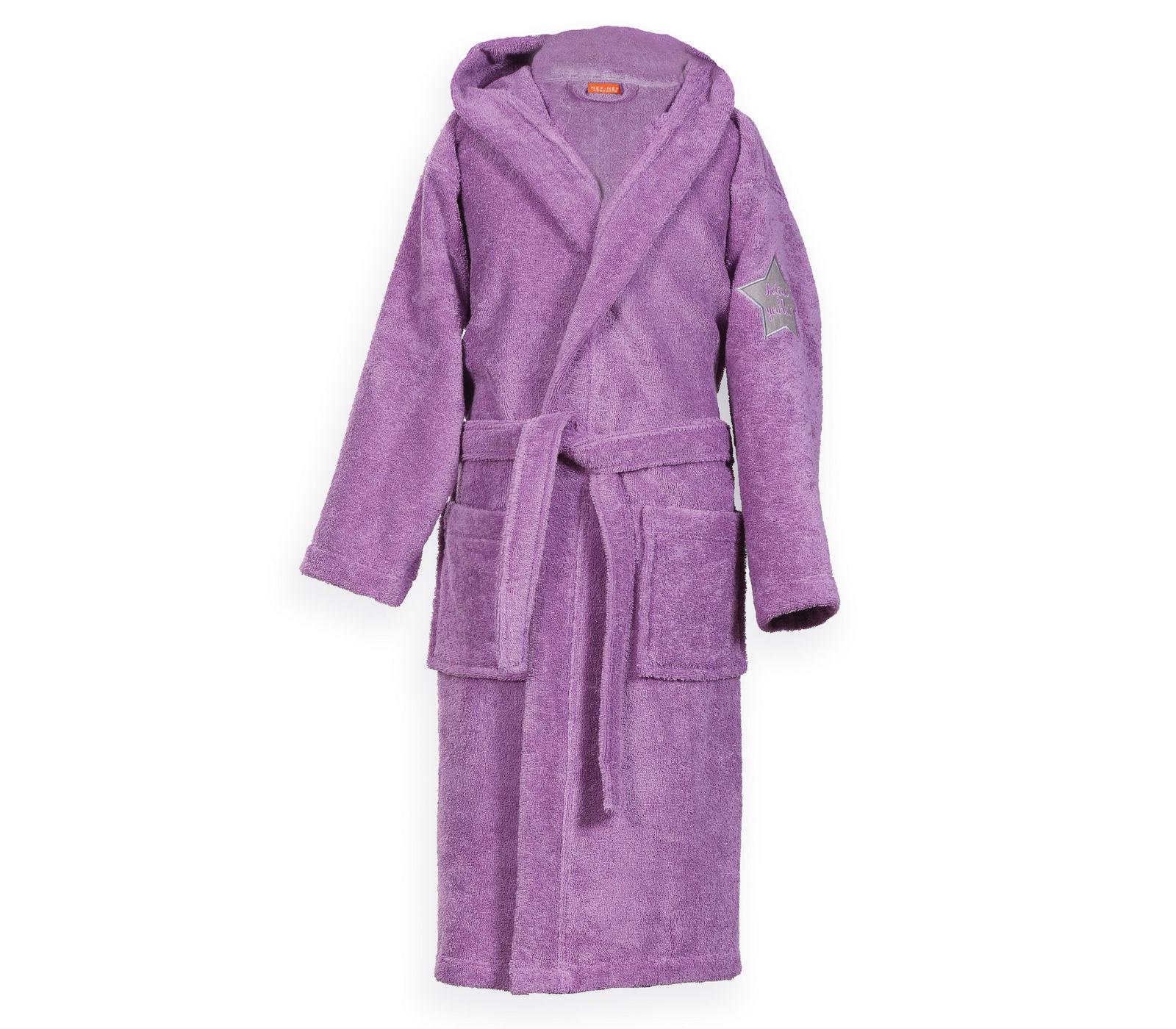 Μπουρνούζι Παιδικό με Κουκούλα NEF NEF JUNIOR KIDS-18 1021-Purple 14