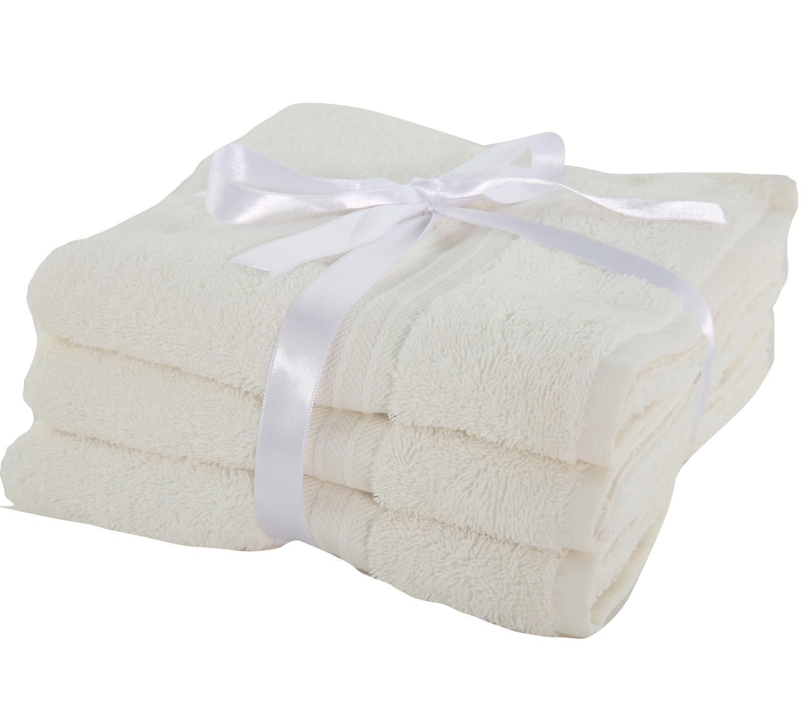 Πετσέτες Προσώπου (Σετ 3 Τμχ) Nef Nef Cosy Cream