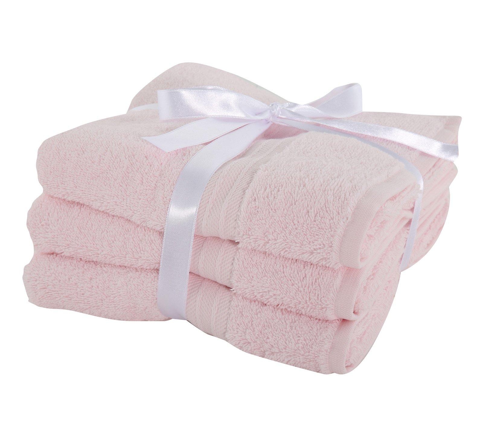 Πετσέτες Προσώπου (Σετ 3 Τμχ) Nef Nef Cosy Pink