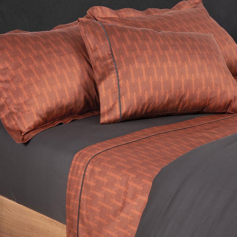 Σεντόνια Υπέρδιπλα (Σετ) 240X270 Nef Nef Elements Odisha Terracotta Χωρίς Λάστιχο (240×270)