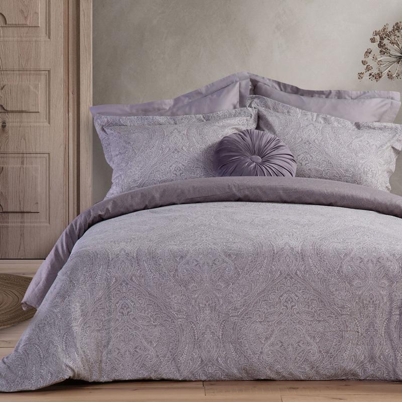 Σεντόνια King Size (Σετ) 270X280 Nef Nef Premium Sateen Engenie Grey Χωρίς Λάστιχο