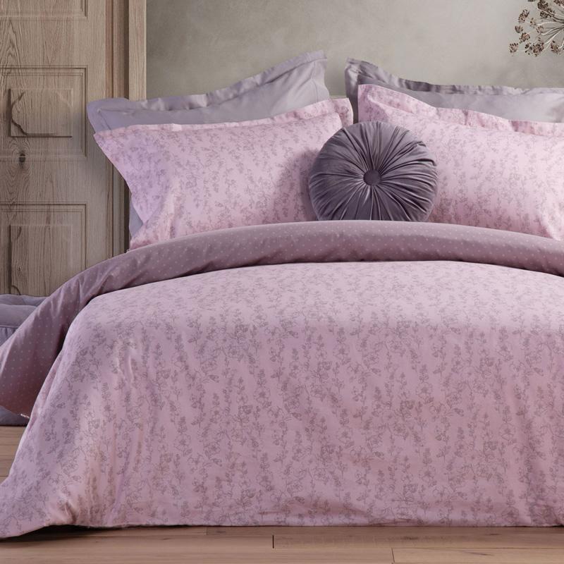Σεντόνια Υπέρδιπλα (Σετ) 240X270 Nef Nef Premium Sateen Tolita Pink Χωρίς Λάστιχο