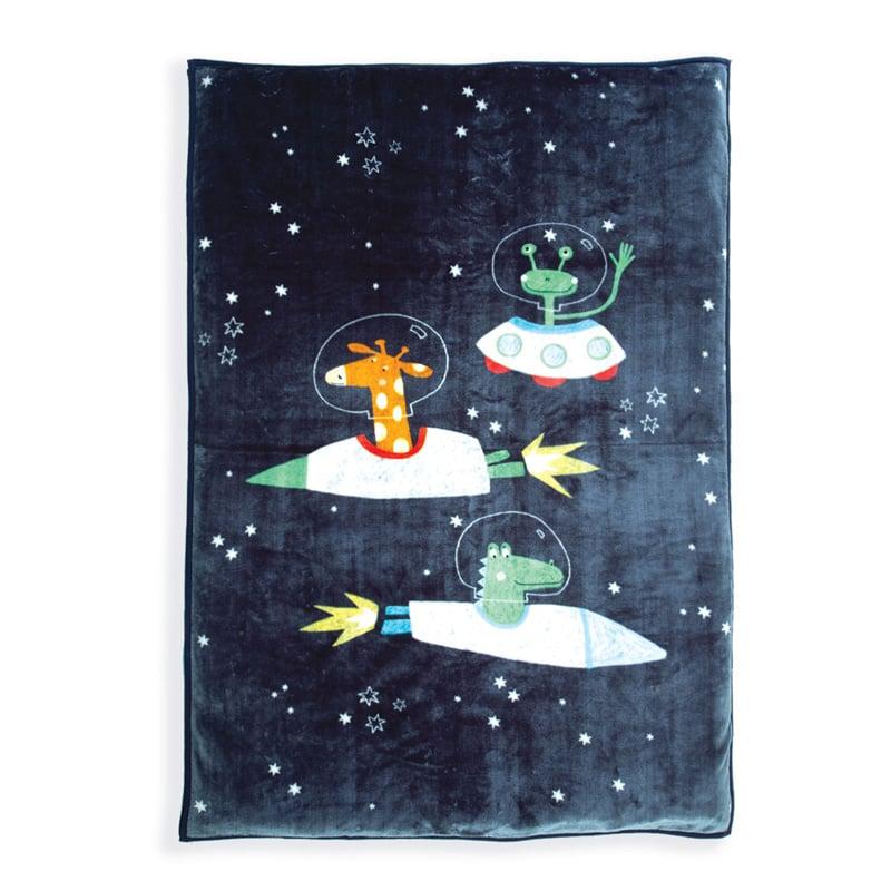 Κουβέρτα Βελουτέ Μονή 160X220 Nef Nef Space Zoo D.Blue (160×220)