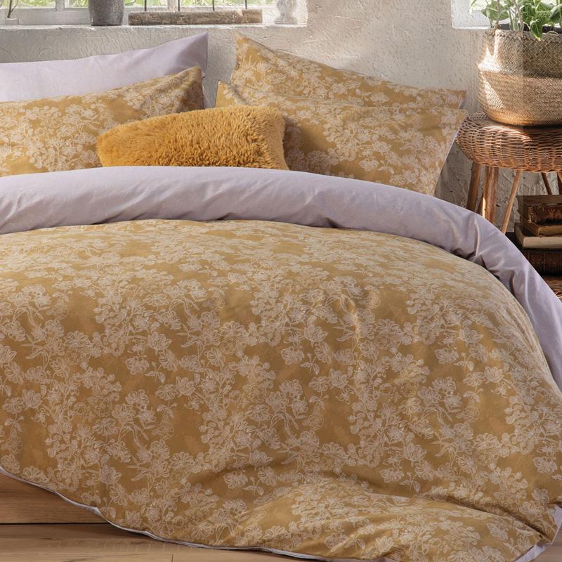 Σεντόνια Μονά (Σετ) 170X270 Nef Nef Smart Line Primerose Honey Χωρίς Λάστιχο
