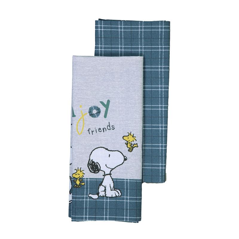 Σεντόνια Λίκνου (Σετ 2 Τμχ) 70X120 Nef Nef Snoopy Enjoy Petrol/Grey Χωρίς Λάστιχο