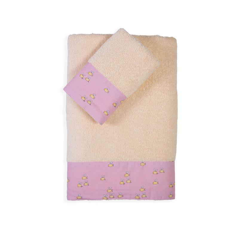 Παιδικές Πετσέτες (Σετ 2 Τμχ) Nef Nef Country Park Ecru/Pink