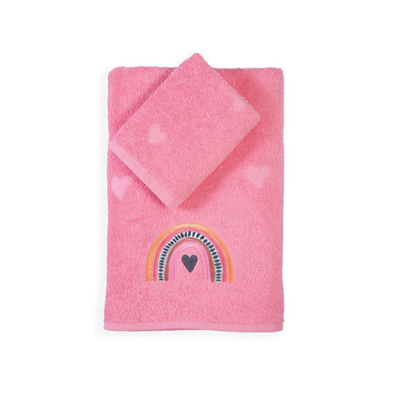 Παιδικές Πετσέτες (Σετ 2 Τμχ) Nef Nef Rainbow Girls Pink