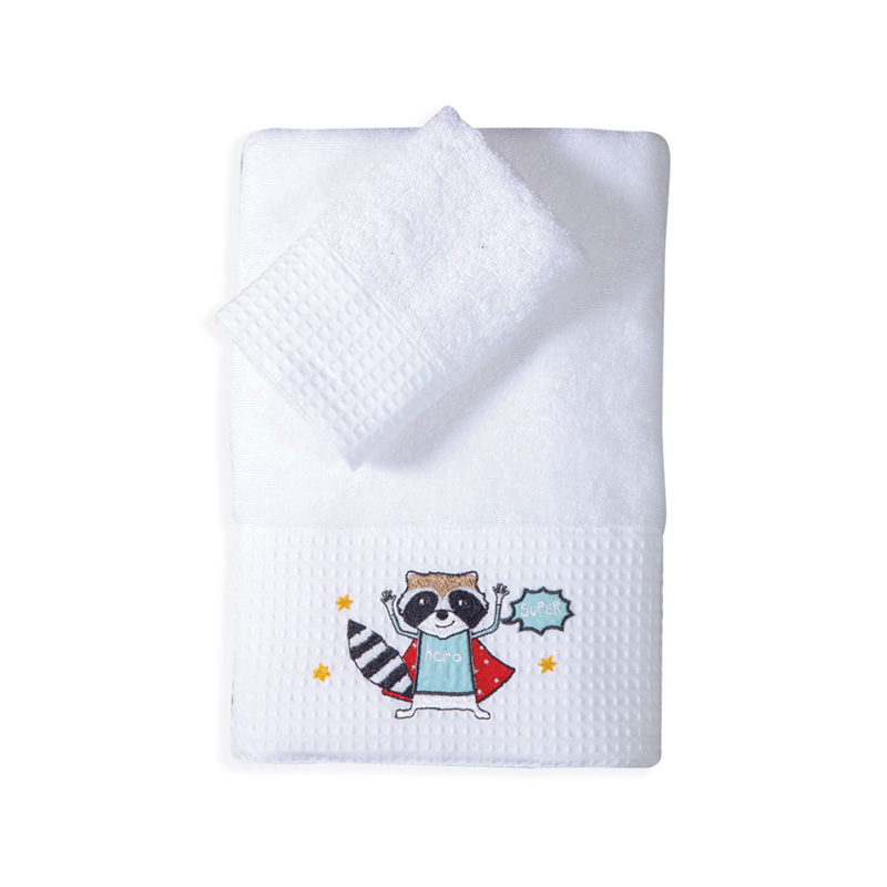 Παιδικές Πετσέτες (Σετ 2 Τμχ) Nef Nef Super Animals White
