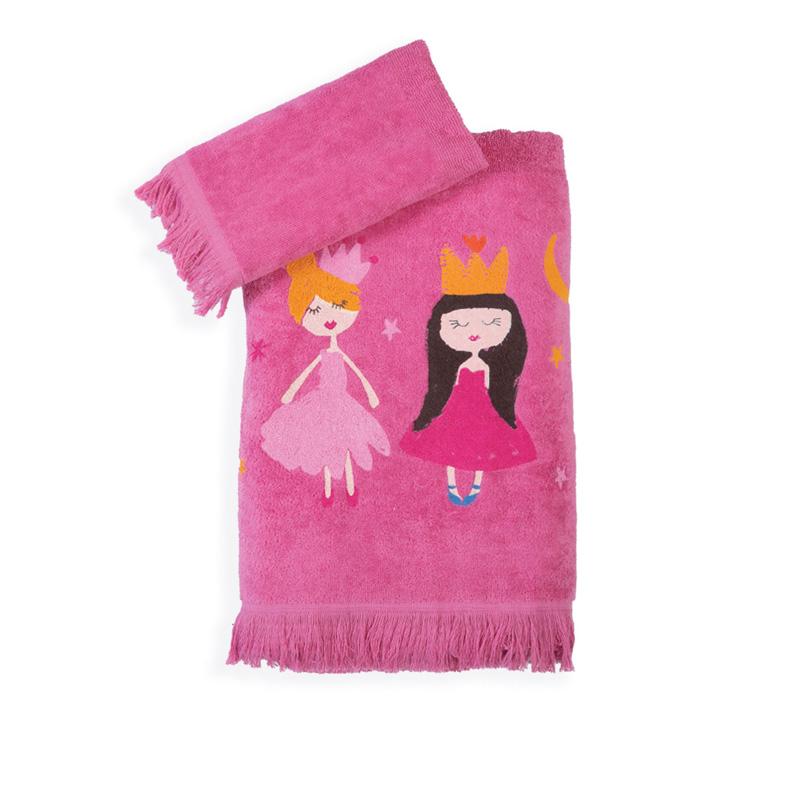 Παιδικές Πετσέτες (Σετ 2 Τμχ) Nef Nef Art Princess Fuchsia