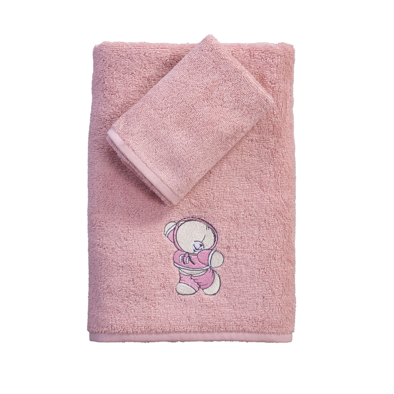 Παιδικές Πετσέτες (Σετ 2 Τμχ) Nef Nef Ff Little Things Pink