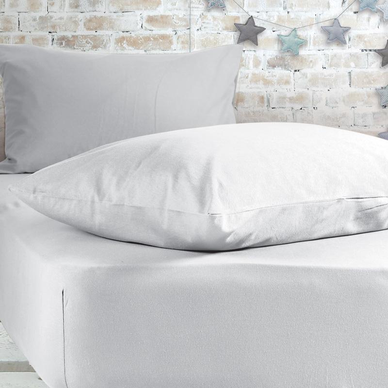 Σεντόνι Μεμονωμένο Κούνιας 70X140+20 Nef Nef Jersey 200-White Με Λάστιχο